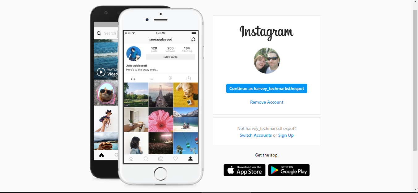 Sign in to Instagram.