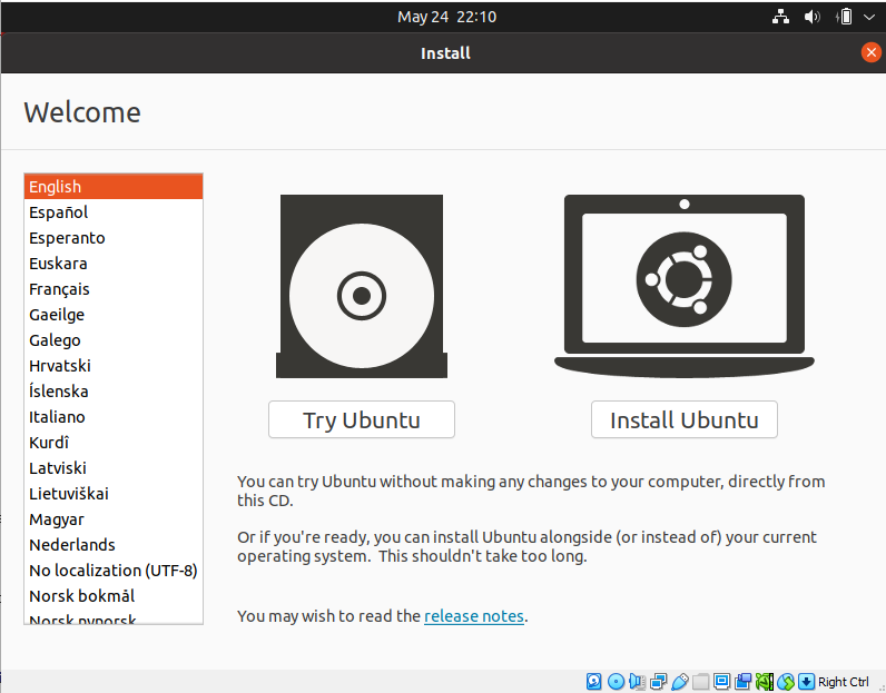 VirtualBox. Select your primary language and click Install Ubuntu.How to use VirtualBox to create virtual machines on your computer. Virtualization