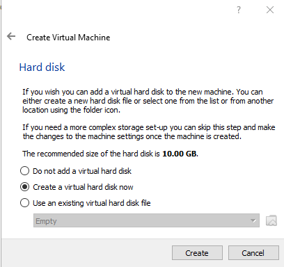 """VirtualBox. Select """"Create a virtual hard disk"""". Then click Create. How to use VirtualBox to create virtual machines on your computer. Virtualization"""