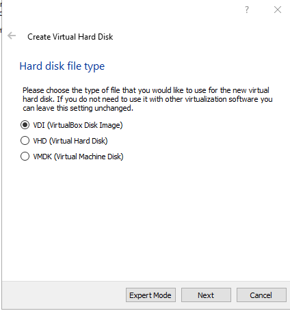 VirtualBox. Select VDI and click Next. How to use VirtualBox to create virtual machines on your computer. Virtualization